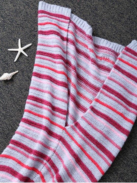 Knitted Sofa Mermaid Tail Blanket -   Mobile