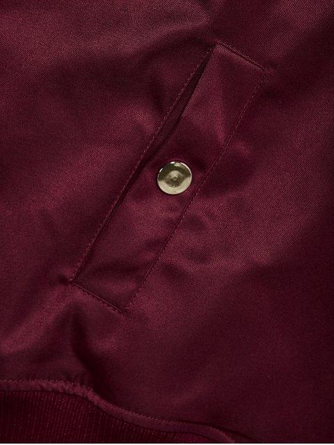 lady Pockets Bomber Jacket - BURGUNDY S Mobile