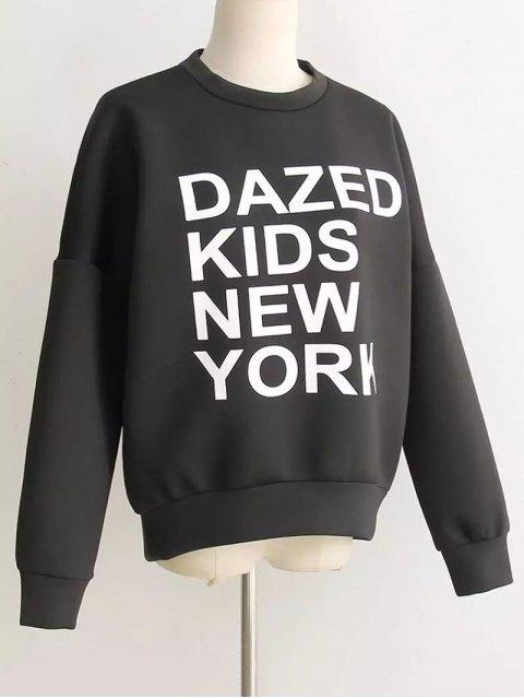 fashion Space Cotton Graphic Sweatshirt - BLACK M Mobile