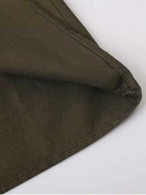 shops Tassels Utility Shirt - ARMY GREEN M Mobile