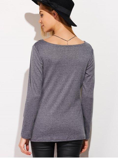 shops Tassels Long Sleeve Cardigan - DEEP GRAY S Mobile