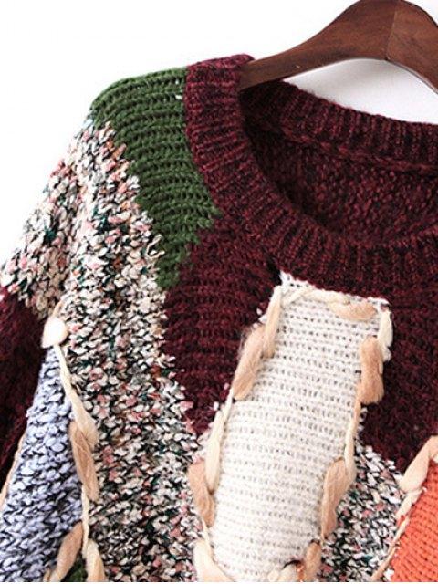 women Jacquard Chunky Sweater - BLACK ONE SIZE Mobile