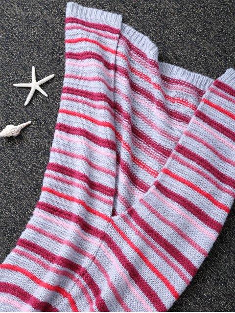 shops Knitted Sofa Mermaid Tail Blanket -   Mobile