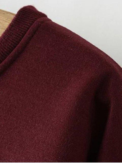 online Eye Embroidered Crew Neck Sweatshirt - BLACK 3XL Mobile