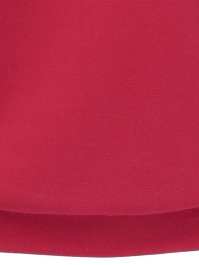 Skew Collar Love Pattern Sweatshirt - RED L Mobile