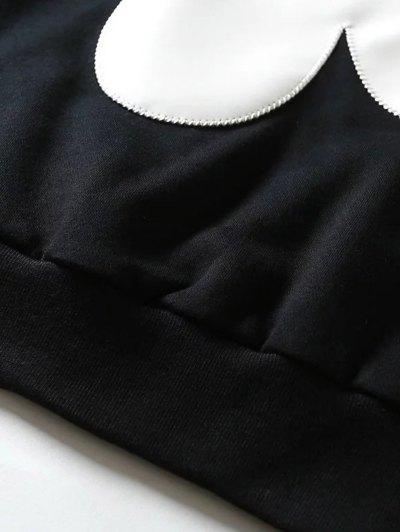 Sun Flower Patch Sweatshirt - BLACK L Mobile
