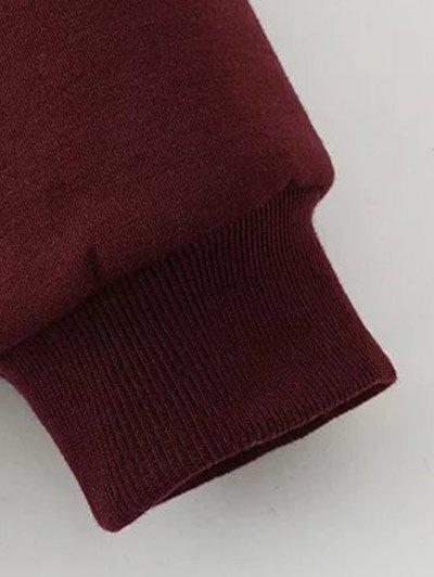 Eye Embroidered Crew Neck Sweatshirt - BLACK 3XL Mobile