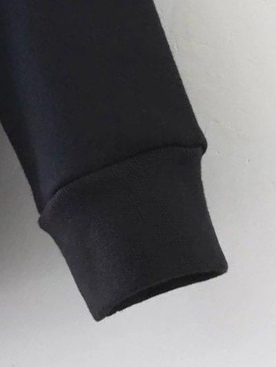 Pockets Zip Up Hoodie - BLACK L Mobile