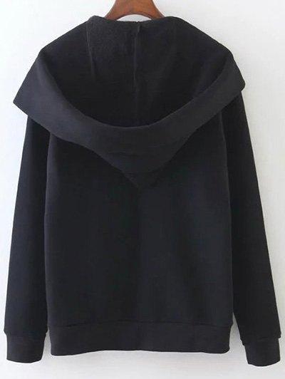 Pockets Zip Up Hoodie - BLACK S Mobile