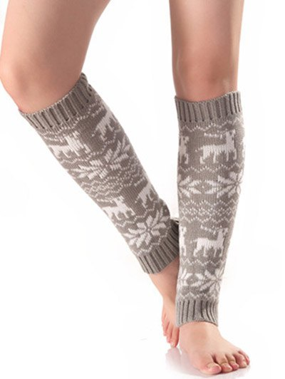 Christmas Knitted Leg Warmers