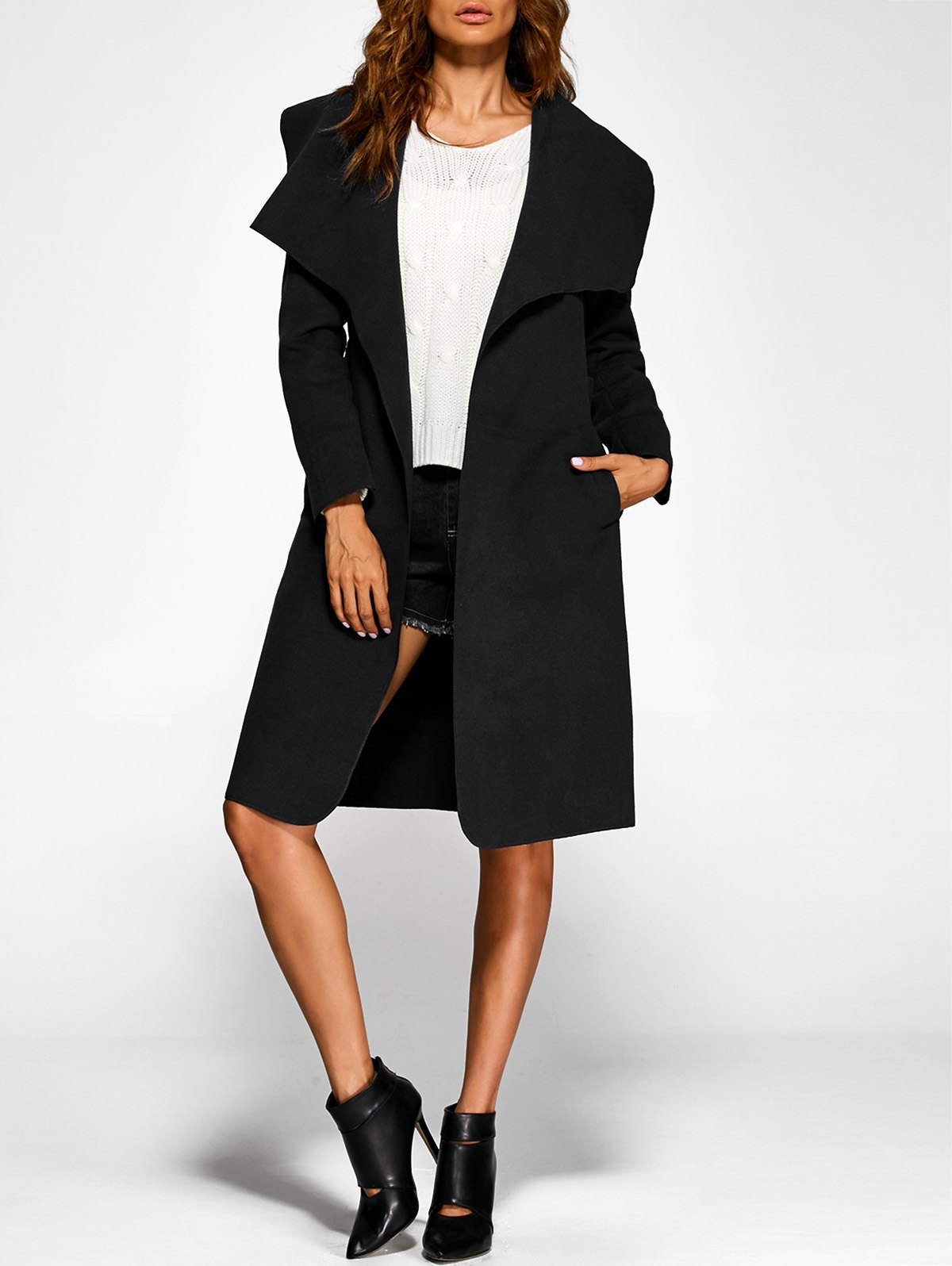 Belted Shawl Duster Coat