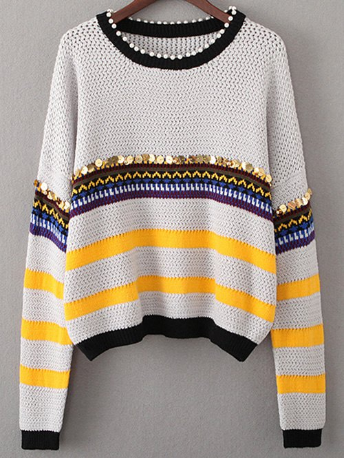 Beading Sequined Sweater
