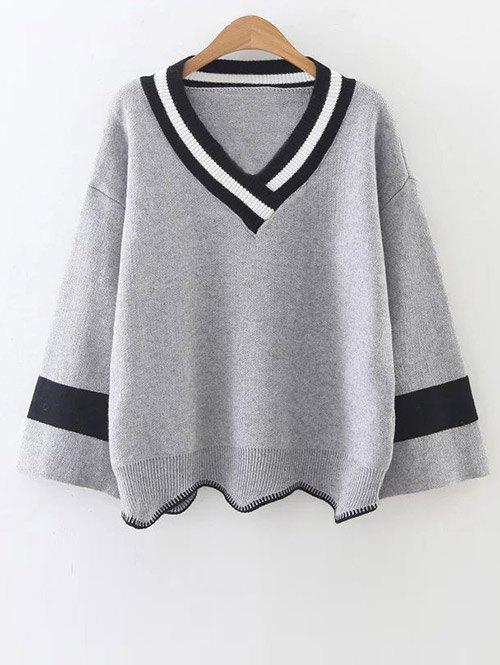 V Neck Cricket Sweater