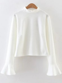 Buy Ruffled Flare Sleeve Blouse