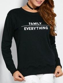 Sweatshirt With Text Print