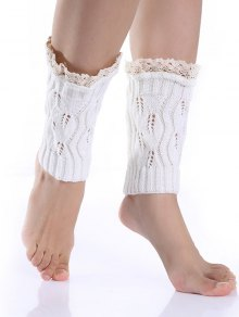 Lace Edge Knitted Boot Cuffs
