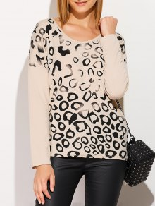 Scoop Collar Printed Tee