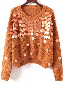 Sequined Chunky Sweater