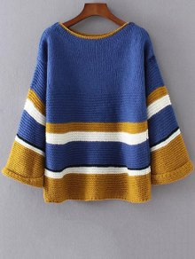 Color Block Colorful Sweater