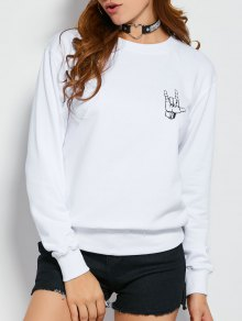 Gesture Graphic Pullover Sweatshirt