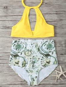 High Rise Halter Plunge Bikini