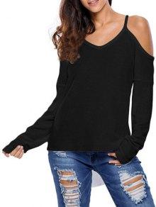 Cami Cold Shoulder Knitwear - Black S