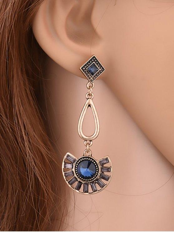 womens Geometric Faux Gemstone Enamel Earrings - YELLOW