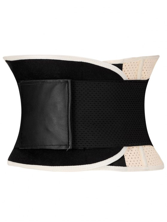 Stretchy Waist Training Corset - APRICOT 3XL Mobile
