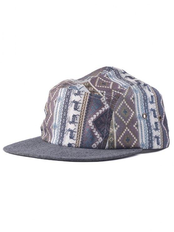 Streetwear Estimado Patrón de Hip Hop Gorra de béisbol - Gris