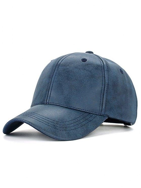 Casual PU Leather Baseball Hat - CADETBLUE  Mobile
