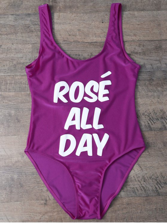 Rose All Day Swimsuit - VIOLET ROSE M Mobile