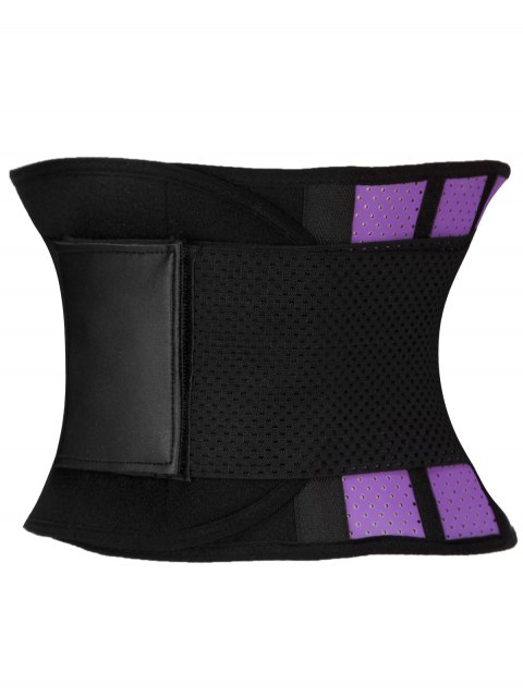 hot Stretchy Waist Training Corset - PURPLE 3XL Mobile