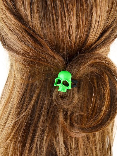 Vintage Skull Elatic Hair Band - GREEN  Mobile