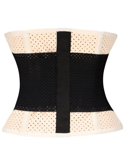 Stretchy Waist Training Corset - APRICOT M Mobile