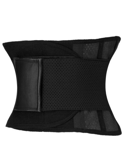 Stretchy Waist Training Corset - BLACK L Mobile