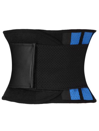 Stretchy Waist Training Corset - BLUE AND BLACK 2XL Mobile