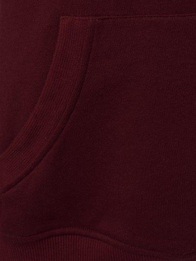 Color Block Drawstring Plus Size Hoodie - COLORMIX XL Mobile