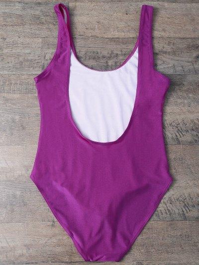Rose All Day Swimsuit - VIOLET ROSE L Mobile
