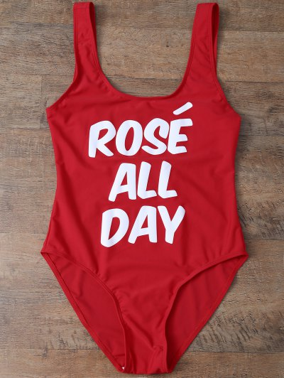 Rose All Day Swimsuit - RED M Mobile
