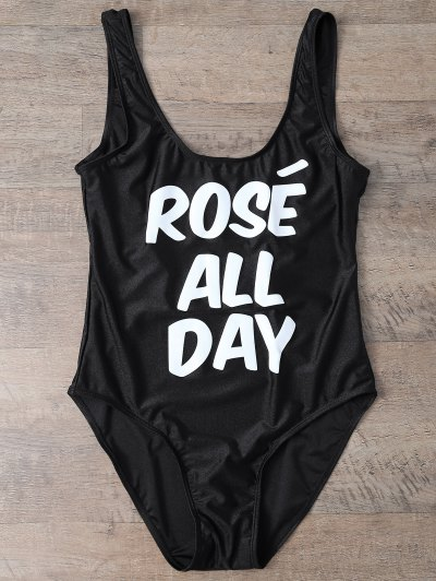 Rose All Day Swimsuit - BLACK L Mobile