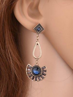 Geometric Faux Gemstone Enamel Earrings - Yellow