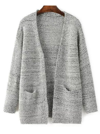 Front Open Cardigan with Pockets