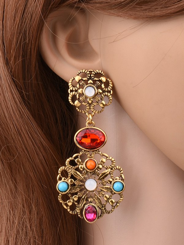 Filigree Floral EarringsAccessories<br><br><br>Color: GOLDEN