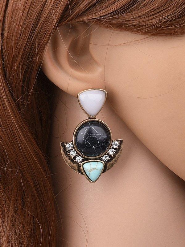 Retro Geometric EarringsAccessories<br><br><br>Color: BLACK