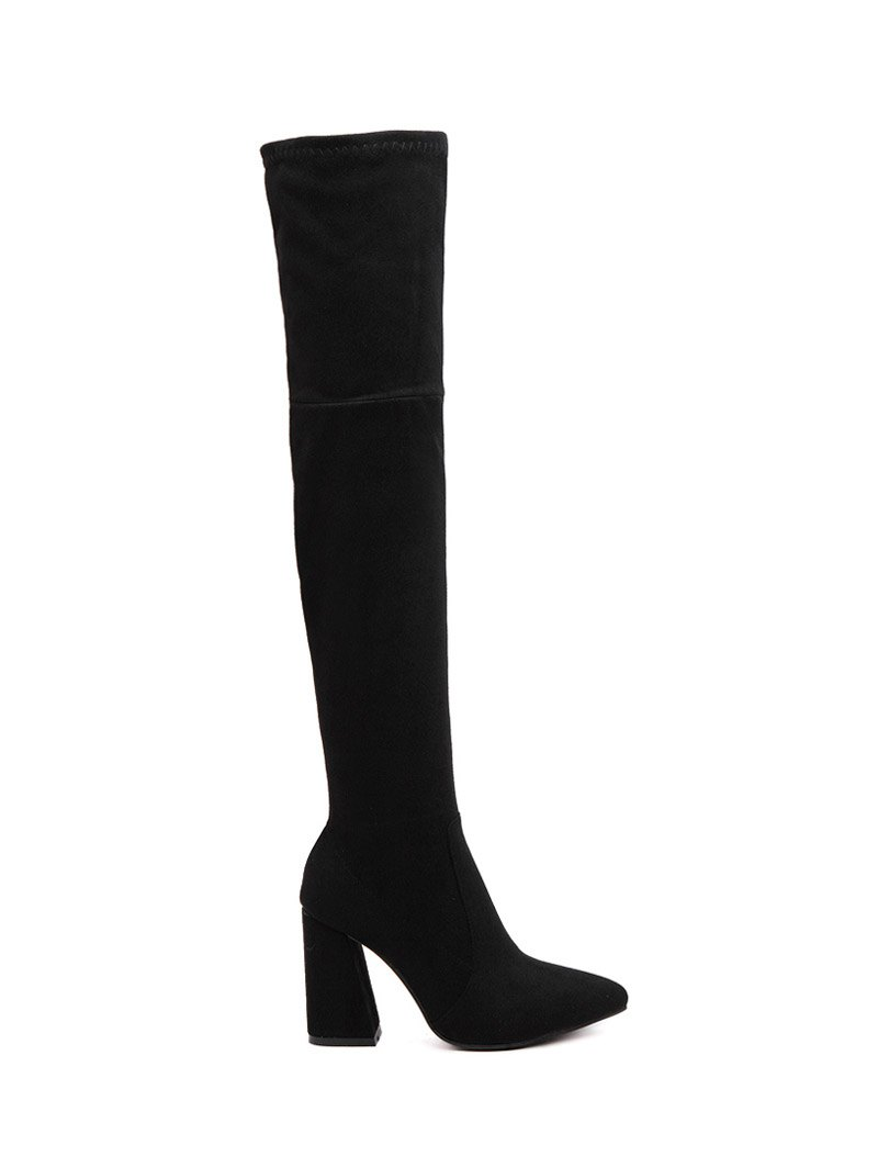 Pointed Toe Thigh Boots
