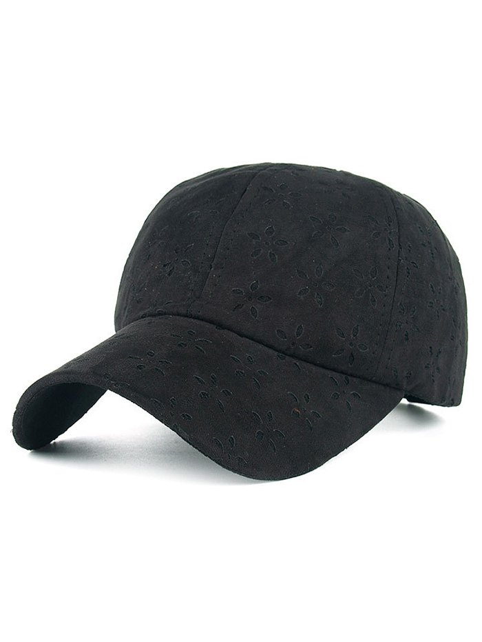 Adjustable Floral Velvet Baseball HatAccessories<br><br><br>Color: BLACK