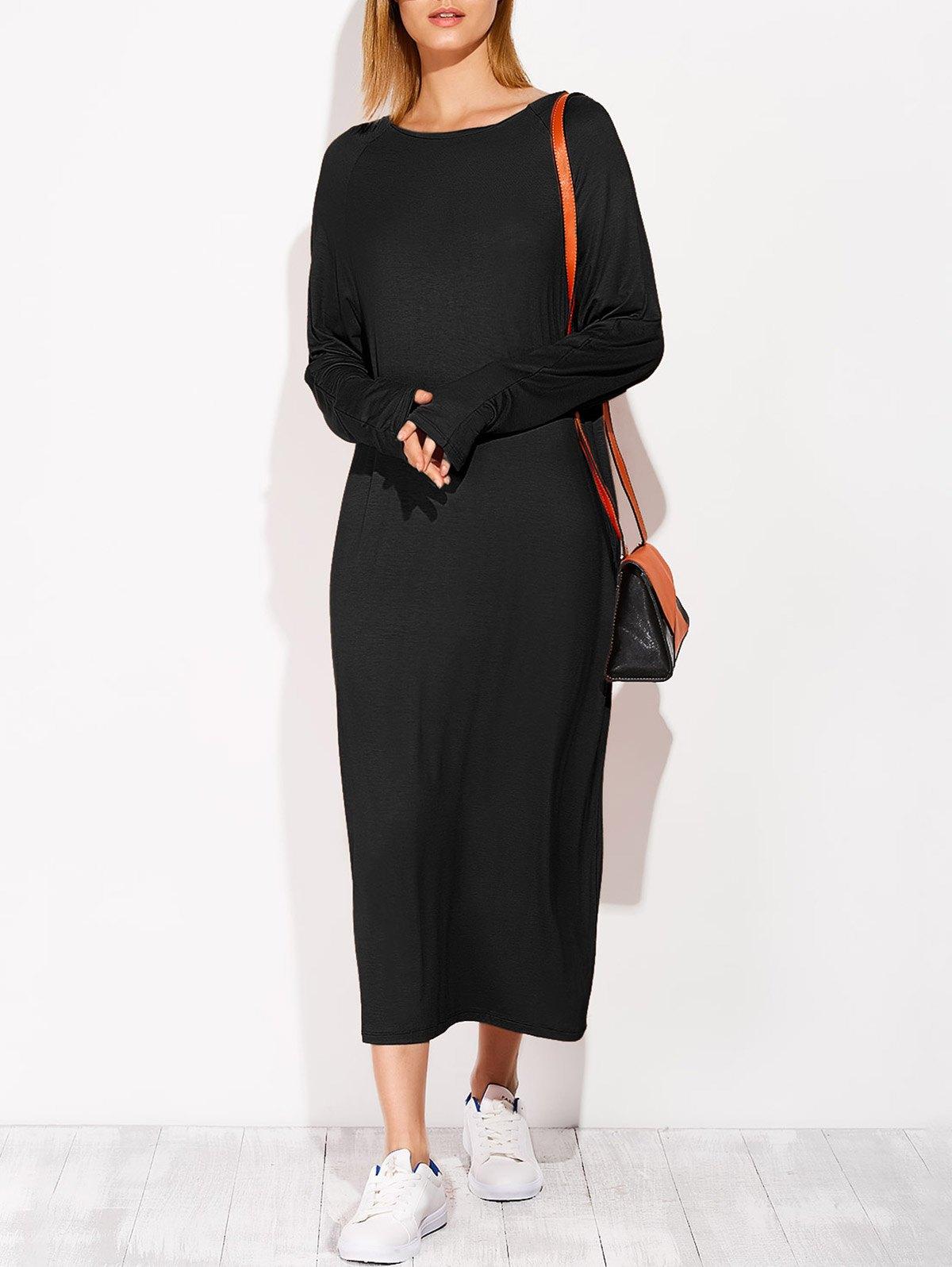 Long Sleeve Modal Midi Dress