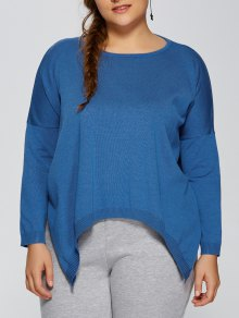 Plus Size Pullover Handkerchief Sweater