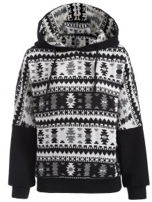 Tribal Jacquard Pullover Batwing Hoodie