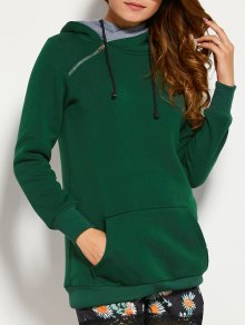 Drawstring Double Hooded Sweatshirt